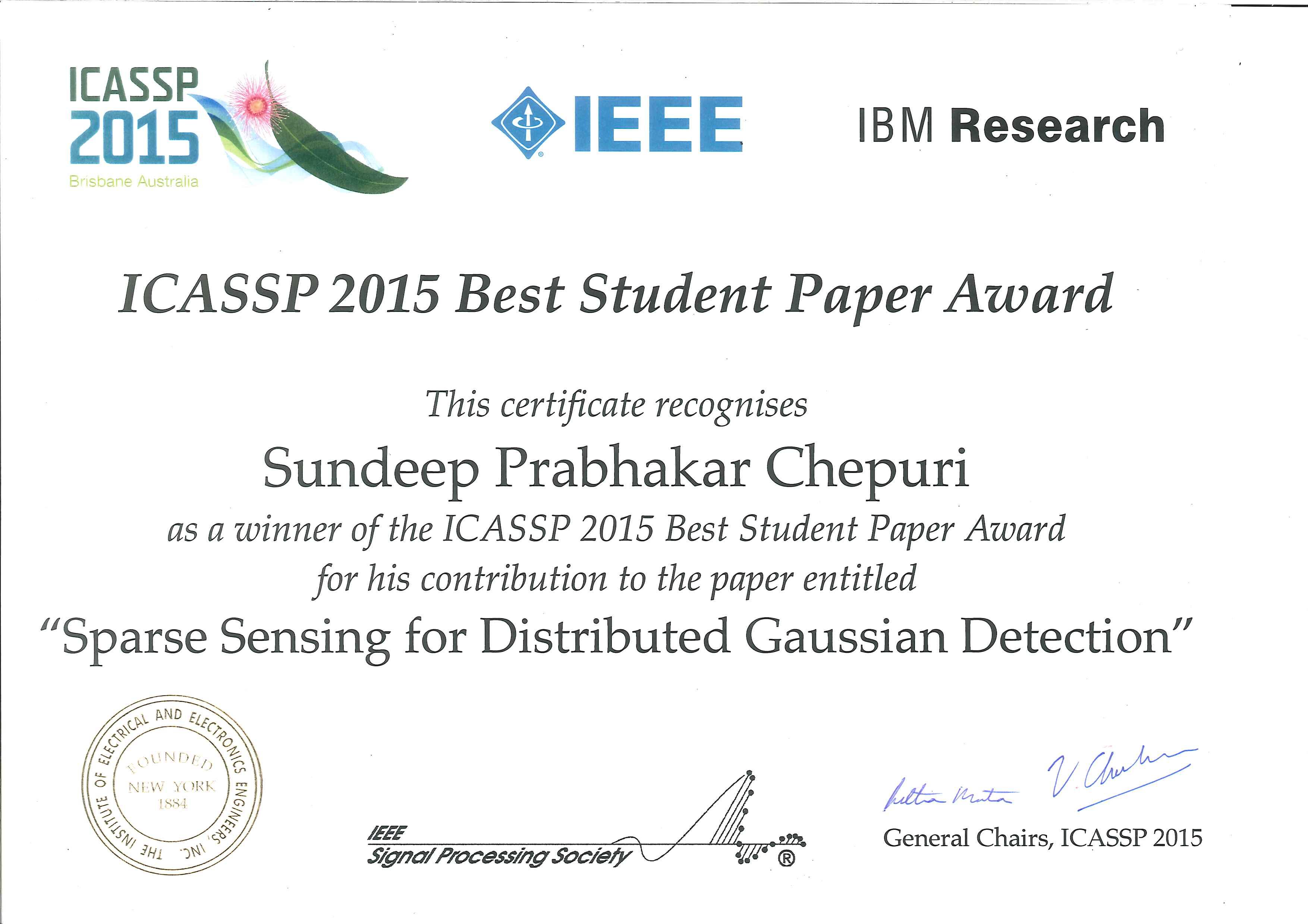 Sundeep Prabhakar Chepuri